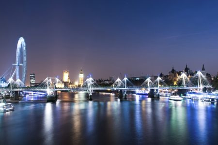 London England – River Thames looking toward Westmister